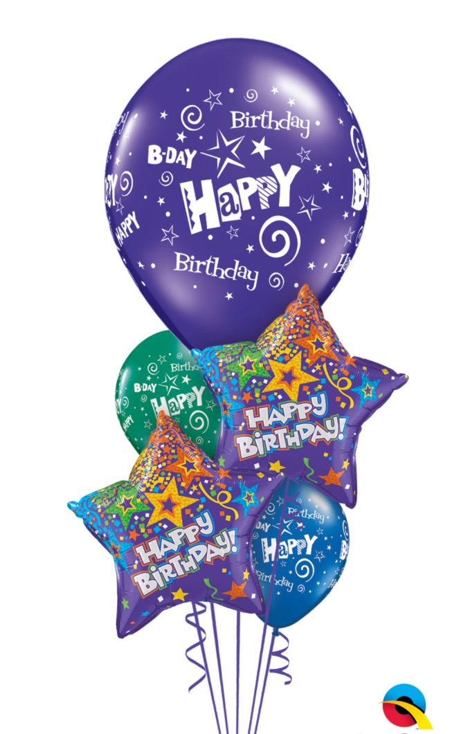 The Balloon Shop Starry Birthday Bouquet Balloons Delivery Decorations