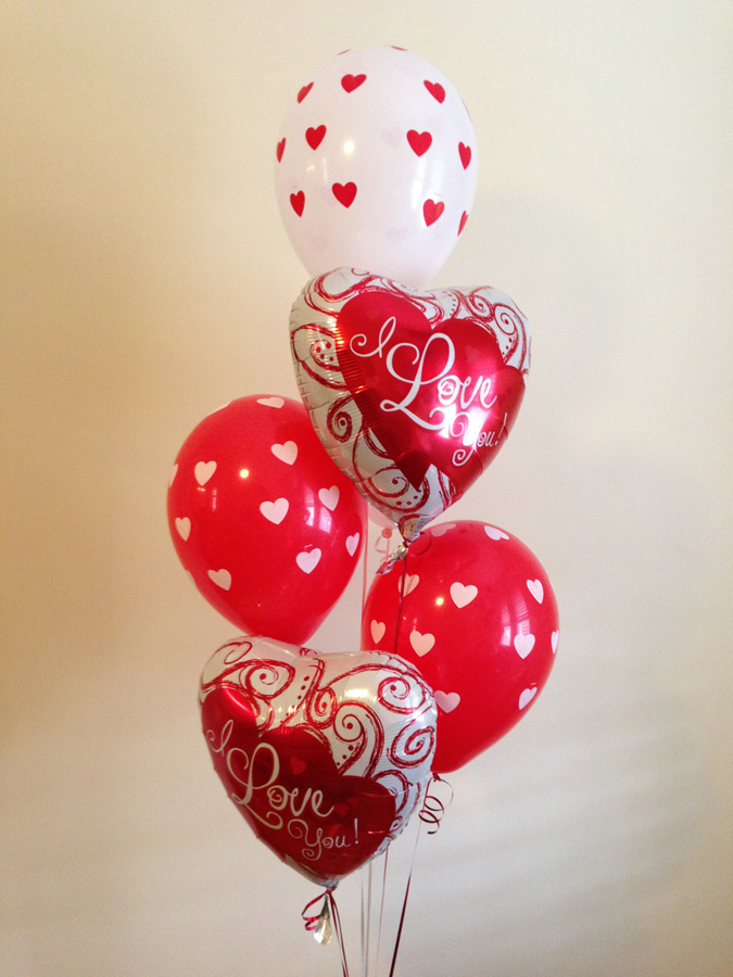 The Balloon Shop I Love You Treat Bouquet Birthday Balloons Delivered Online Delivery Sydney